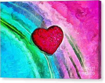 Crush On You Canvas Print by Krissy Katsimbras