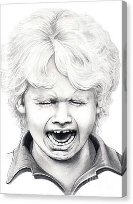 Cry Baby Canvas Print by Murphy Elliott