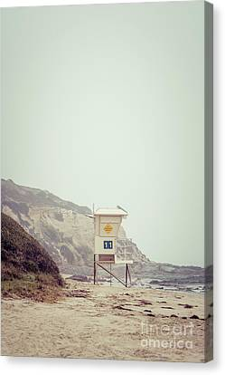 Crystal Cove Lifeguard Tower #11 Retro Picture Canvas Print by Paul Velgos