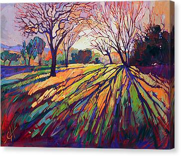 Crystal Light Canvas Print by Erin Hanson