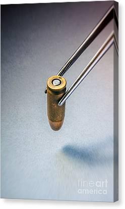 Csi Bullet Evidence Canvas Print by Carlos Caetano