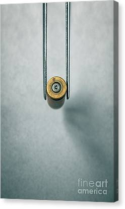 Csi Bullet Shell Evidence  Canvas Print by Carlos Caetano