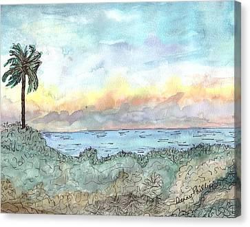 Cuba Beach Canvas Print by Denny Phillips