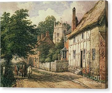 Cubbington In Warwickshire Canvas Print by Thomas Baker