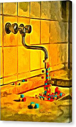 Cubic Water - Da Canvas Print by Leonardo Digenio