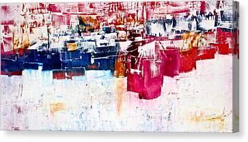 Cubicles Canvas Print by Janice Nabors Raiteri
