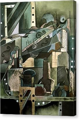 Cubism Canvas Print by Noor Shaikh