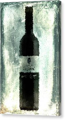 Cubist Red Wine Canvas Print by Andrea Barbieri