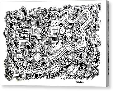 Cuddlebug Canvas Print by Chelsea Geldean