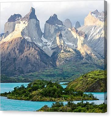 Cuernos Del Paine - Patagonia Canvas Print by Carl Amoth