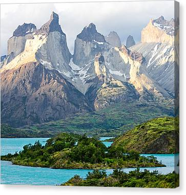 Cuernos Del Paine - Patagonia Canvas Print by Carl Amoth