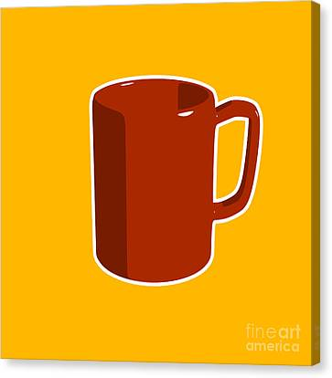 Cup Of Coffee Graphic Image Canvas Print by Pixel Chimp