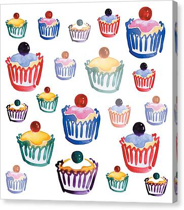 Cupcake Crazy Canvas Print by Sarah Hough