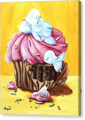 Cupcake Canvas Print by Maryn Crawford