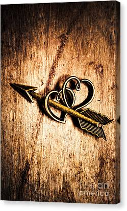 Cupid Arrow And Hearts Canvas Print by Jorgo Photography - Wall Art Gallery