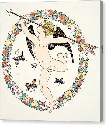 Cupid Canvas Print by Georges Barbier