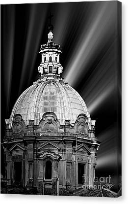 Cupola In Rome Canvas Print by Stefano Senise
