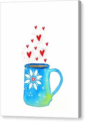 Cuppa Series - Java Love Canvas Print by Moon Stumpp