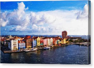 Curacao Oil Canvas Print by Dean Wittle