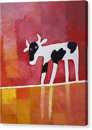 Curious Calf Canvas Print by Lutz Baar