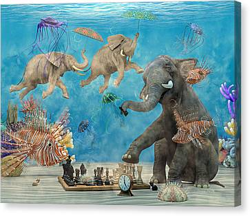 Curious Ocean Canvas Print by Betsy Knapp