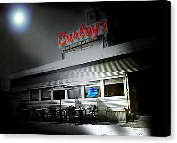 Curley's Diner Canvas Print by Diana Angstadt