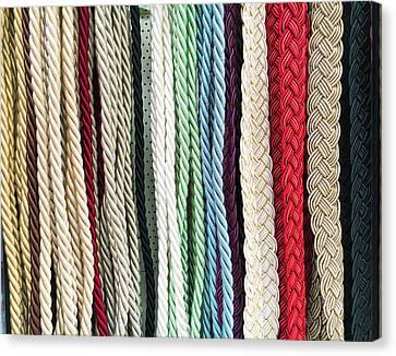 Curtain Cords Canvas Print by Tom Gowanlock