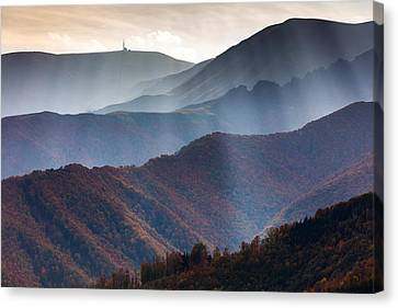 Curtain Of Light Canvas Print by Evgeni Dinev