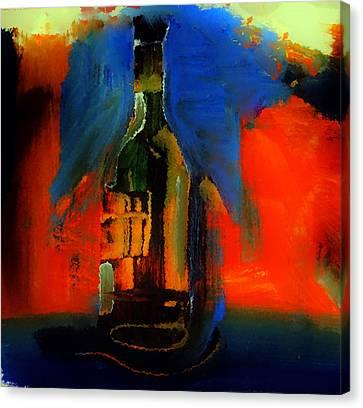 Curvy Wine Bottle Canvas Print by Lisa Kaiser