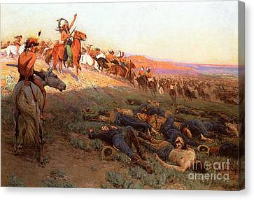 Custer's Last Stand Canvas Print by Richard Lorenz