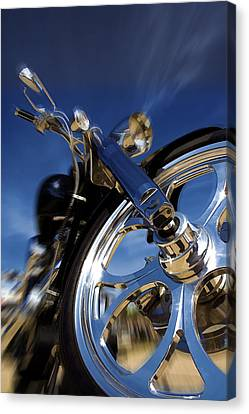 Custom Chopper Canvas Print by Ricky Barnard