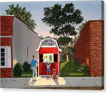 Customers' Last Stand Canvas Print by C Robert Follett