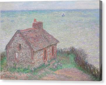 Customs House Canvas Print by Claude Monet