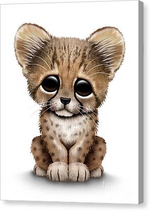 Cute Baby Cheetah Cub Canvas Print by Jeff Bartels