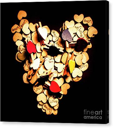 Cute Button Love Canvas Print by Jorgo Photography - Wall Art Gallery