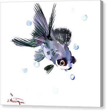 Cute Fish Canvas Print by Suren Nersisyan
