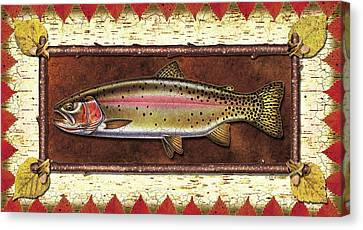 Cutthroat Trout Lodge Canvas Print by JQ Licensing
