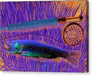 Cuttin' The Grass Canvas Print by Mark Jennings