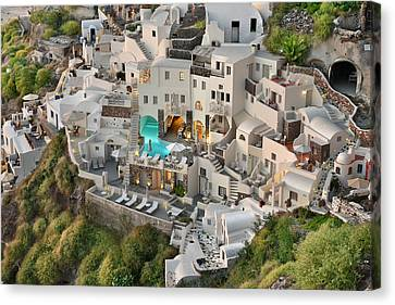 Cycladic Architecture Canvas Print by Edwin Verin