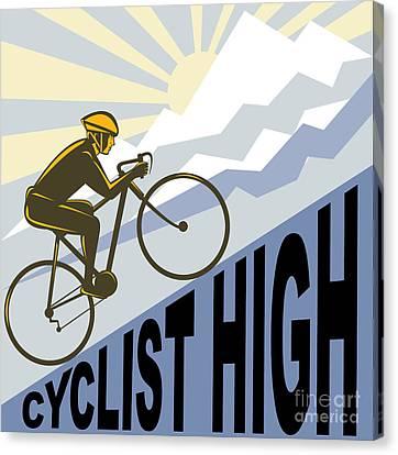 Cyclist Racing Bike Canvas Print by Aloysius Patrimonio