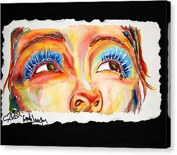 Cyn's Tear Canvas Print by Joseph Lawrence Vasile