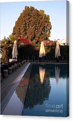 Cyprus Pool Reflection Canvas Print by John Rizzuto
