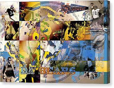 Da Bears V3 Canvas Print by Jimi Bush