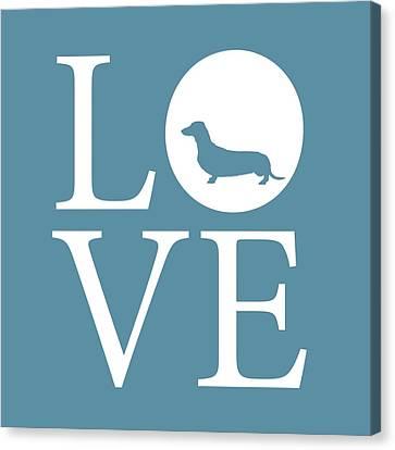 Dachshund Love Canvas Print by Nancy Ingersoll