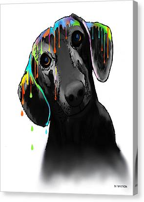 Dachshund Canvas Print by Marlene Watson