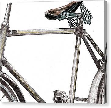 Dad's Bike Canvas Print by Glenda Zuckerman