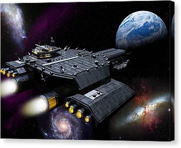 Daedalus Approaching Atlantis Canvas Print by Joseph Soiza