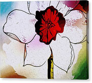 Daffy Down Dilly Canvas Print by Susan  Epps Oliver