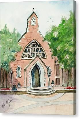 Dahlgren Chapel Canvas Print by Mary DuCharme