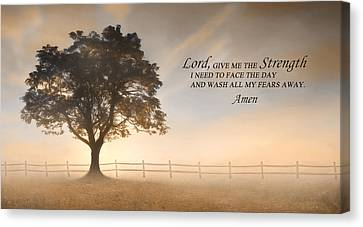 Daily Prayer Canvas Print by Lori Deiter